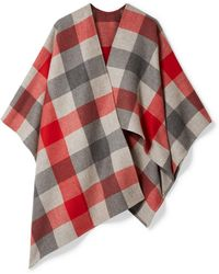 Bottega Veneta - Checked Wool And Cashmere-blend Cape - Lyst