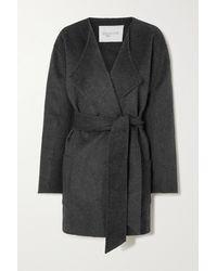 Envelope1976 Pisa Belted Draped Wool Coat - Gray