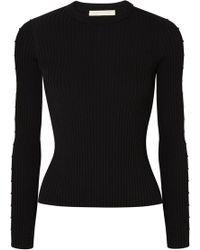 Jonathan Simkhai - Cutout Ribbed-knit Sweater - Lyst