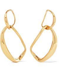 Dinosaur Designs - Liquid Chain Gold-plated Earrings - Lyst