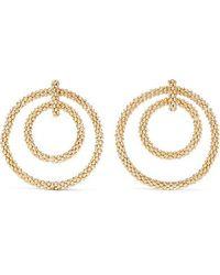 Rosantica Onore Gold-tone Hoop Earrings - Metallic
