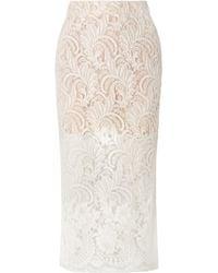 Stella McCartney - Wool-blend Guipure Lace Midi Skirt - Lyst