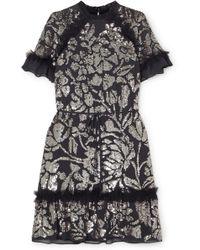Needle & Thread - Mini-robe En Georgette À Sequins Et En Tulle - Lyst