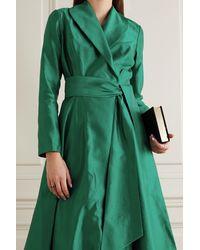 Rasario Robe Aus Seidensatin - Grün
