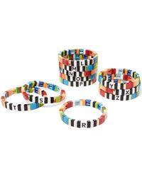 Roxanne Assoulin - Alphabet Soup Enamel Bracelet - Lyst