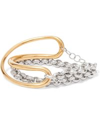 Charlotte Chesnais - Initial Gold Vermeil And Silver Bracelet - Lyst