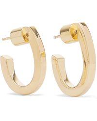 Jennifer Fisher - Square Huggies Gold-plated Hoop Earrings - Lyst