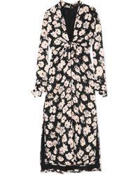 Proenza Schouler - Printed Silk-georgette Midi Dress - Lyst