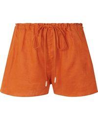 Cult Gaia Sissi Linen Shorts - Orange