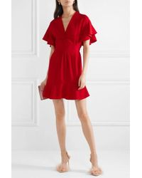 Miu Miu - Ruffled Cady Dress - Lyst