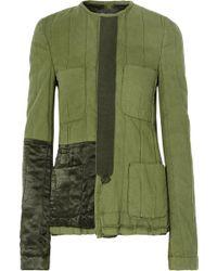 Haider Ackermann - Velvet-trimmed Quilted Cotton Jacket - Lyst