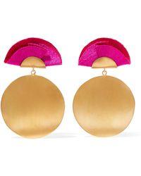 Katerina Makriyianni - Full Moon Gold-tone And Silk Earrings - Lyst
