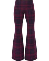 Sonia Rykiel - Checked Wool-felt Flared Pants - Lyst