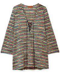 Missoni - Mare Lace-up Crochet-knit Kaftan - Lyst