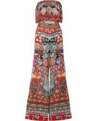 Camilla - Embellished Printed Silk Crepe De Chine Jumpsuit - Lyst