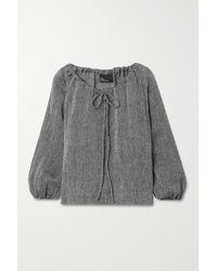 Lisa Marie Fernandez Linen-blend Gauze Top - Black
