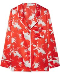 Alice + Olivia - Keir Floral-print Silk-satin Shirt - Lyst
