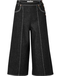 See By Chloé - Wide Leg Cropped Jeans - Lyst