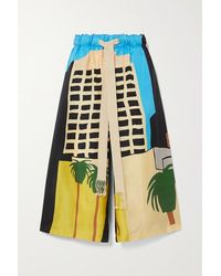 Loewe Ken Price La Series Printed Silk-twill Shorts - Black