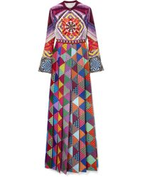 Mary Katrantzou | Desmine Printed Crepe De Chine Maxi Dress | Lyst