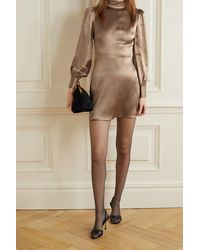 Reformation Mini-robe Dos Ouvert En Satin De Soie Kim - Multicolore