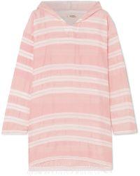 lemlem - Doro Frayed Striped Cotton-blend Gauze Hoodie - Lyst