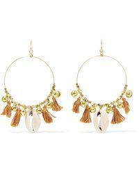Chan Luu - Tasselled Gold-tone Shell Earrings - Lyst