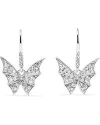 Stephen Webster - Fly By Night 18-karat White Gold Diamond Earrings - Lyst