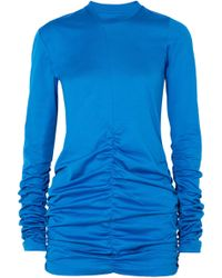 Marques'Almeida - Ruched Cotton-jersey Top - Lyst