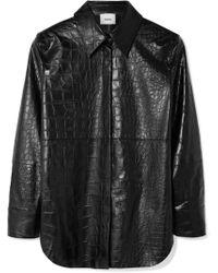 Nanushka - Naum Croc-effect Vegan Faux Leather Shirt - Lyst
