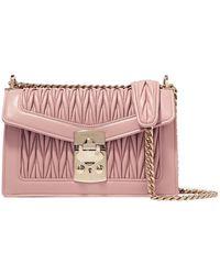 0663af406c0 Miu Miu - Confidential Matelassé Leather Shoulder Bag - Lyst