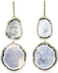 Kimberly Mcdonald - 18-karat Gold, Diamond And Geode Earrings - Lyst