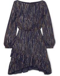 672757d19569 Lyst - Self-Portrait Felicia Two-tone Guipure Lace Mini Dress in Black