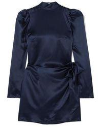 Reformation Josefine Minikleid Aus Seiden-charmeuse - Blau