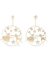 Etro - Gold-tone Crystal Earrings - Lyst