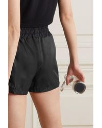 Perfect Moment Jersey-trimmed Shell Shorts - Black