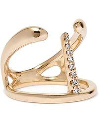 Hirotaka - Manta Spine 10-karat Gold Diamond Ring Gold 5 - Lyst