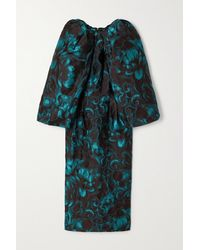 Dries Van Noten - Floral-jacquard Midi Dress - Lyst