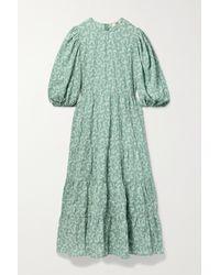 Sea Robe Midi En Cloqué Imprimé Thandie - Vert