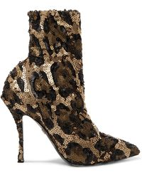 8d938563065 Dolce   Gabbana - Sequined Stretch-knit Sock Boots - Lyst