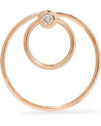 Hirotaka | 18-karat Gold Diamond Hoop Earring | Lyst
