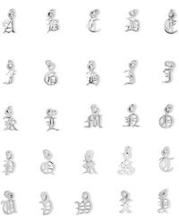 Meadowlark - Alphabet Silver Necklace - Lyst