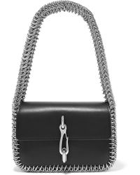 Alexander Wang - Hook Small Chain-trimmed Leather Shoulder Bag - Lyst