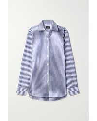 Emma Willis Jermyn Street Cotton-poplin Shirt - Blue