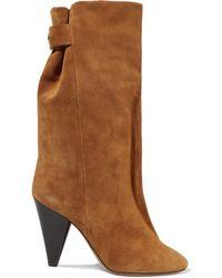 Isabel Marant Lakfee Suede Boots - Brown