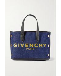 Givenchy - Bond Mini Tote Aus Denim Mit Lederbesätzen - Lyst
