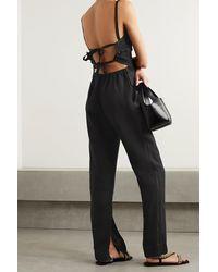 Bassike + Net Sustain Open-back Linen Jumpsuit - Black