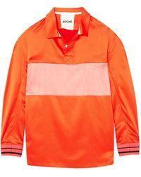 Koche - Striped Satin Shirt - Lyst