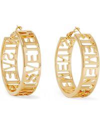 Vetements - Gold-plated Hoop Earrings - Lyst