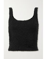 Skims Débardeur En Bouclé Cozy Knit, Rose Clay - Noir
